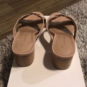 Anthropologie Shoes - New-Anthropologie Dusty Pink Suede buckle sandal